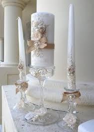 Rustic Chic Wedding Unity Candle Set