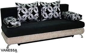 großen dunklen stoff sofa bett mit speicher