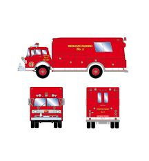 Athearn ATH10289 N Scale Ford C Fire Truck Volunteer Fire #2