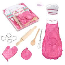 Amazoncom Meihuida Kids Chef Set For Girls 11Pcs Cooking And