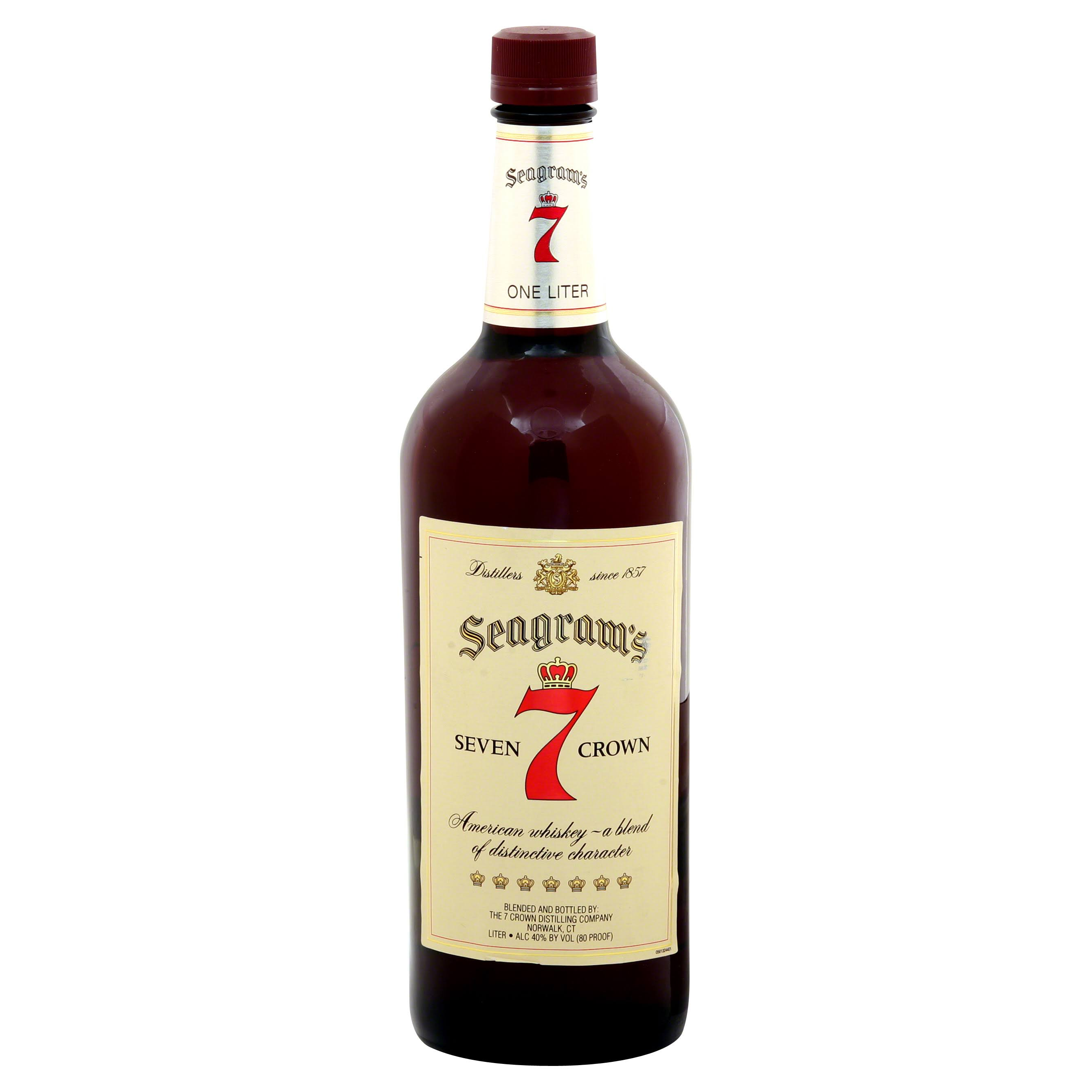 Seagram's 7 Crown American Whiskey - 1L