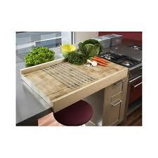 billot cuisine bois plan de travail à poser en bois debout de charme billot chabret