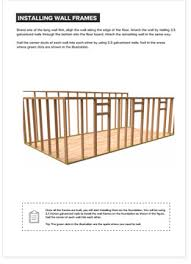 12 X 24 Gable Shed Plans by 12x24 Lean To Storage Shed Plan Howtobuildashed Org