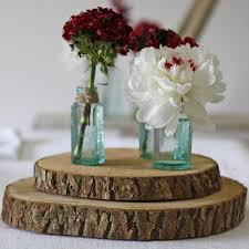 Tree Slice Rustic Wedding Centrepiece