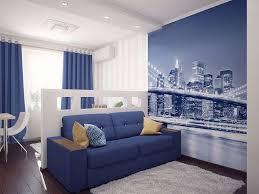 schlafzimmer wohnzimmer in einem raum innenarchitektur wie