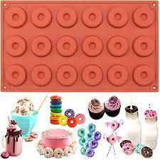 18er silikon form zum backen und basteln mini donuts für kuchen cookies schokolade fimo knete seife 29 x 17 x 1 cm