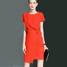 H Designer Brief Tunic Dress 2017 Summer Trendy Womens Solid Short Sleeves Slim