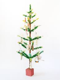 3ft Christmas Tree by Antique 18th Century Primitive Wooden Spoons From Eastern Europe