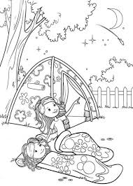 Girl Scout Camping Coloring Pages Groovy Girls Camp Colouring PagesFree Kids
