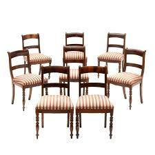 Empire Dining Chairs Eight Antique Style Table And