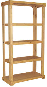 Wooden Retail Shelving Unit With 3 Shelves Open Back Oak Finish Great For