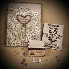 Guestbook Wedding Drop Box Framed Guest Book Rustic
