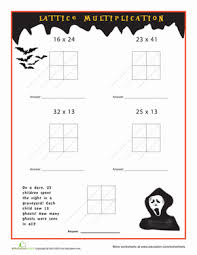 Halloween Math Multiplication Worksheets by 3rd Grade Halloween Multiplication And Division Worksheets