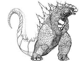 Godzilla Big Fat Coloring Pages