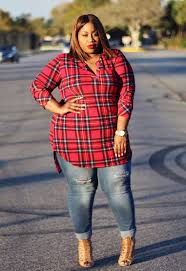 plus size clothing for women jessica kane plaid print tunic