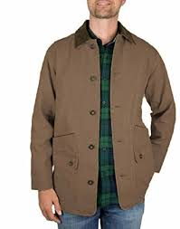 Orvis Mens Corduroy Collar Cotton Barn Jacket Tobacco M at