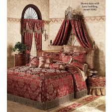 J Queen New York Paramount Curtains by Alexandria Crown Iron Wall Teester Bed Crown Bed Crown