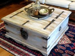 Mexican Trunk Gets Beachy Look With FAT Chalk White Antique Wedgewood Pewter Patina Painting FurnitureDecor