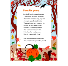 Poems About Halloween For Kindergarten by Pumpkin Poem Children U0027s Learning Activities Pinterest Poem