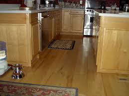 Maple Hardwood Flooring Site Finished Alongside Kitchen Cabinets
