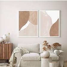 llxhg moderne beige braune abstrakte geometrische leinwand