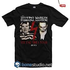 Smashing Pumpkins Shirts by Smashing Pumpkins Marilyn Manson Tour T Shirt Unisex Size