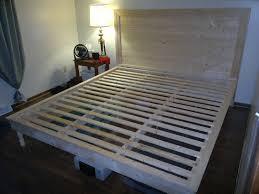 ideas king size platform bed plans bedroom ideas