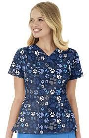 Ceil Blue Print Scrub Jackets by Wonderwink Print Scrub Tops Allheart Com