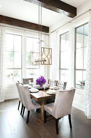 Transitional Dining Room Chandelier New Friendly With Rustic Wood Beams Contemporary Window