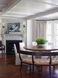 In A Southampton NY Dining Room Interior Designer Ray Booth Encircled Pedestal