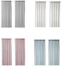 ikea matilda gardinenstore paar in weiß 140x300cm vorhang