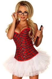 amazon com daisy corsets women u0027s 2 piece naughty schoolgirl