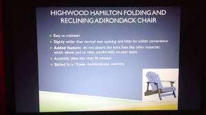 Highwood King Size Adirondack Chairs by Highwood Hamilton Folding And Reclining Adirondack Chair Review