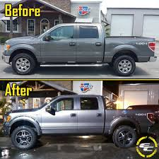 Before & After 2012 Ford F150 With 20x9 18 Rockstar II Wheels