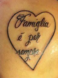 Italian Tattoos Family Forever