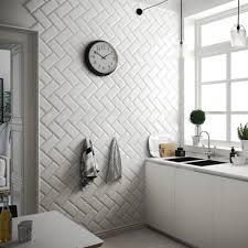 kitchen remarkable white metro tiles 10x20cm wall tile grout