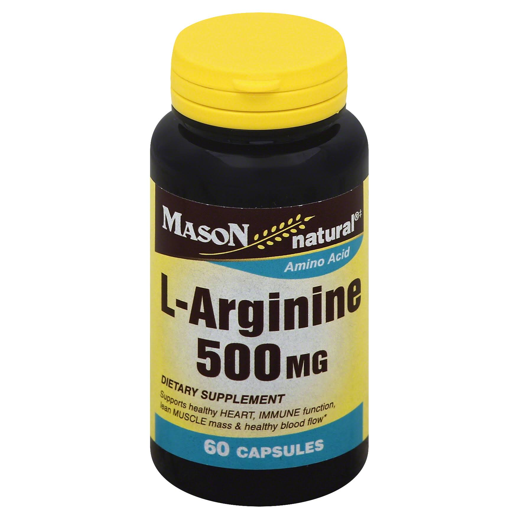Mason Natural L-Arginine Amino Acid Dietary Supplement - 500mg, 60ct