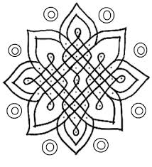 Rangoli Designs Coloring Pages Free Printable For Kids Images
