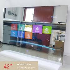 42 zoll wasserdicht badezimmer led tv spiegel dusche zimmer led hd 1080 android wi fi glas panel airplay cast tv