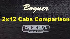 Mesa Boogie Cabinet 2x12 by Mesa 2x12 Horizontal Recto Vs Bogner 2x12 Oversized Youtube