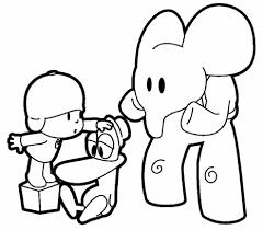 Pocoyo Y Pato Comiendo Frutas Imprime Y Pinta Con Pocoyo Aprende