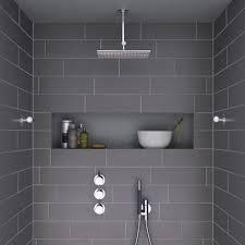 Grey Tiles Bathroom Ideas by Best 25 Shower Tiles Ideas On Pinterest Shower Bathroom Master