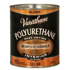 Applying Minwax Polyurethane To Hardwood Floors by Minwax 1 Qt Clear Gloss Fast Drying Polyurethane Interior Wood