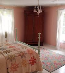 Country Shabby Bedroom With Heirloom Quilt Armoire And All In A 115 Year Old