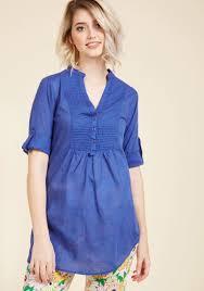 back road ramble tunic in blue modcloth