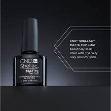 Cnd Led Lamp Australia by Shellac Special Effect Top Coat Matte Top Coat 0 25 Oz 768777