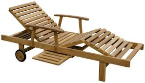 Teak Bahama Pool Lounger Lounge Wood