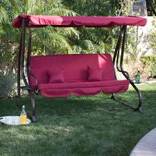 100 Burgundy Rocking Chair Shop BELLEZE Outdoor Canopy Swing Motion Gilder Converting Patio