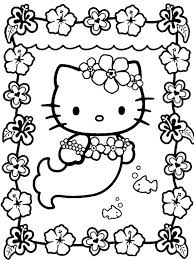 Inspiring Hello Kitty Printable Coloring Pages Print Mermaid Free Pictures And Friends Of Sheets Kids Color