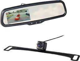 100 Side View Mirrors For Trucks EchoMaster Rear Mirror BackUp Camera Kit Black MRCLP01CP